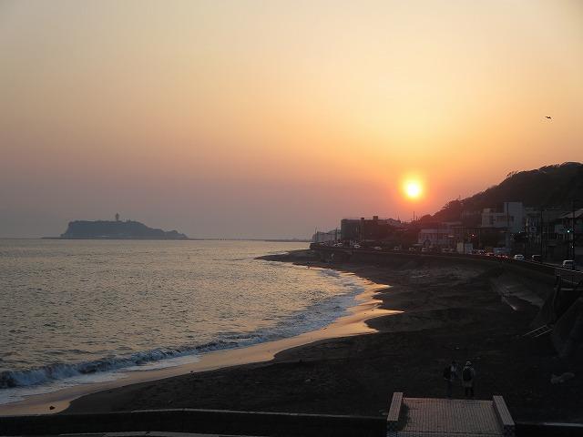 江の島夕陽